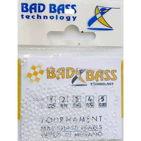 Bad Bass TOURNAMENT MINI GLASS PEARLS/PERLINE VETRO