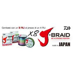 Daiwa J-BRAID 8X mt. 150